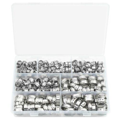 304 Kit de Classification de Colliers de Serrage en Acier Inoxydable une Ore n4h