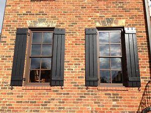 craftsman style cedar board and batten shutters ebay