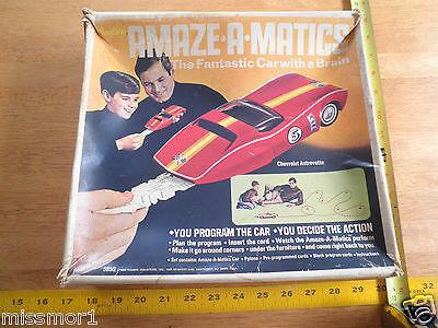 1969 Hasbro Amaze-a-matics car Chevrolet Astrovette car set Chevy brain Corvette