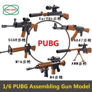 PUBG-1-6-Scale-Action-Figures-Weapon-Gun-Model-Building-Bricks-Toy