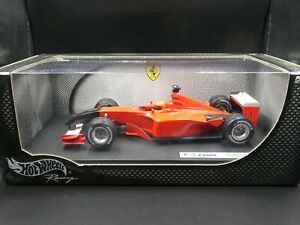 Hot-Wheels-1-18-Michael-Schumacher-Ferrari-F2001-Black-nose-US-GP-F1-2001-9-11