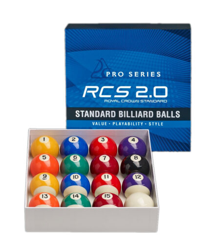 "2 1//4/"" Pool Balls RCS 2.0 New Pro Series Royal Crown Standard 2.0 Ball Set"