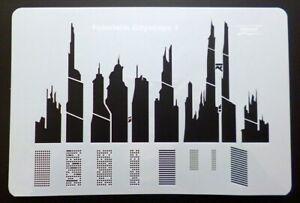 Plantilla-Aerografo-61-x-96-034-Futuristic-Cityscape-1-034-Harder-amp-Steenbeck-410192