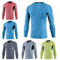 Mens Compression Base Layer Under Skin T-Shirt Tight Sports Long Sleeve Gear Top