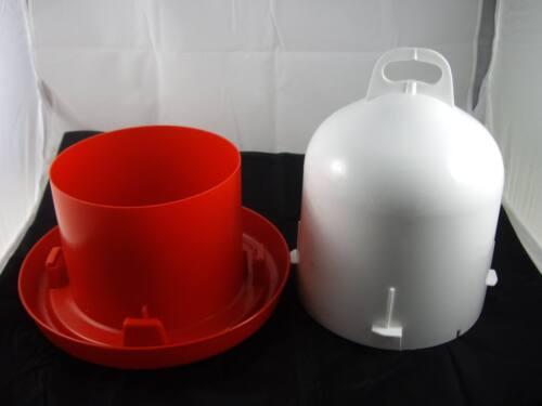 Doppelzylindertränke 6 l,Geflügeltränke Wasser Hühnertränke Doppelmanteltränke