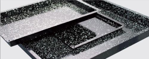 GN 1//1 530x325 mm Backblech 20 mm Granit emailliert Granit-Emaille GERADE ECKEN