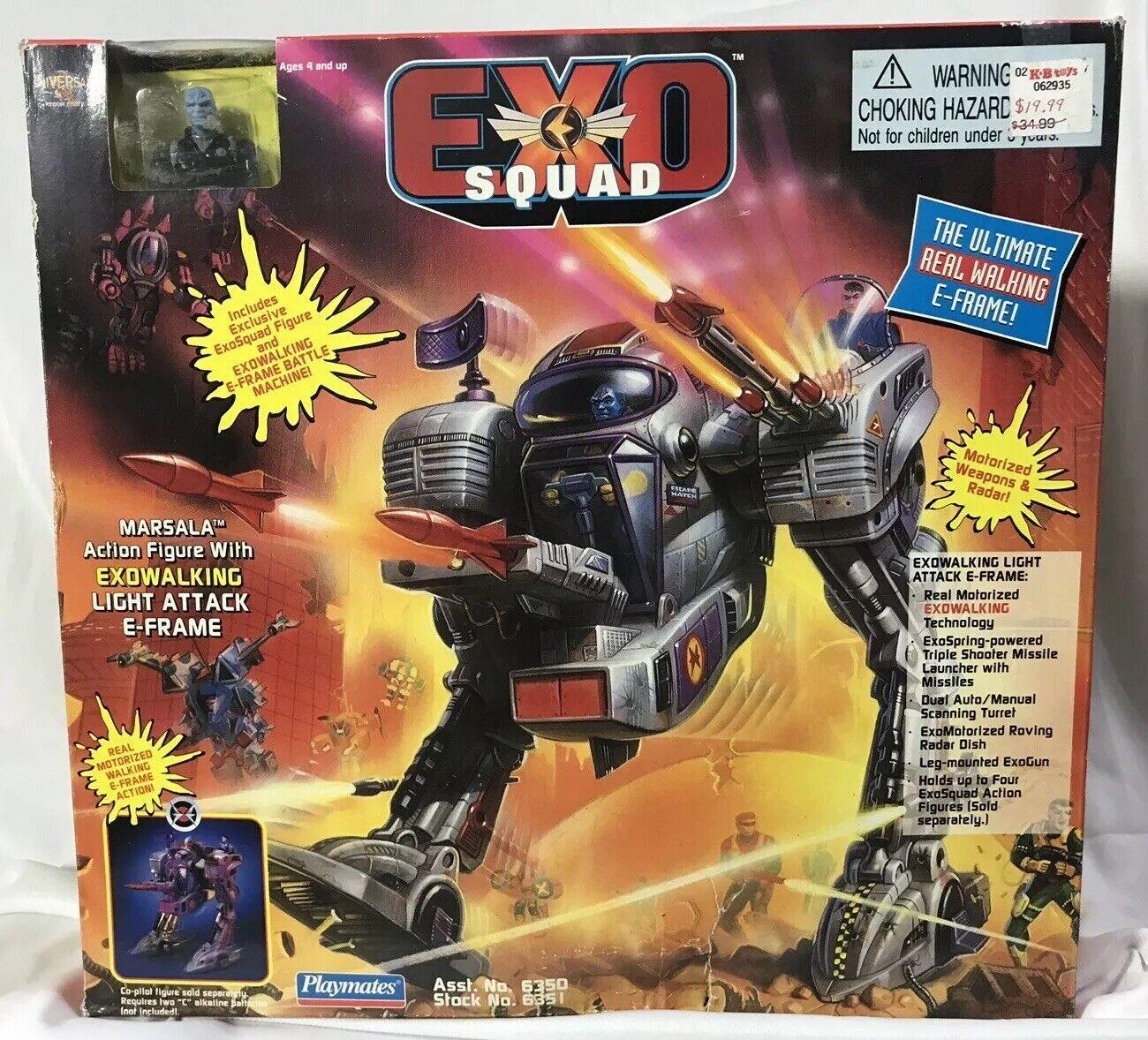 Luz de Exo Squad Marsala con exowalking ataque E-frame 1994 Jugarmates Sellado (b)