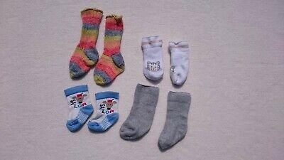 3x Dicke Babysocken Erstlingssocken Fleece Socken Wolle Handmade Gr. 50