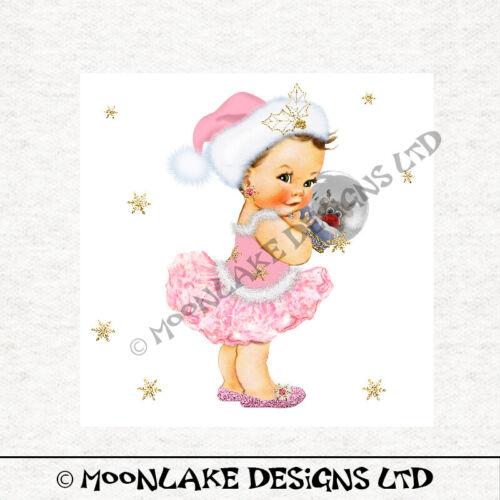 Arte de la Navidad Princesa Bebé PK paneles en 100/% Algodón O Poliester-Sin Brillo