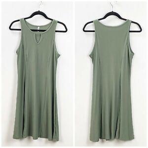 Mudd-Medium-Womens-Army-Green-Knit-Shift-Tank-Dress