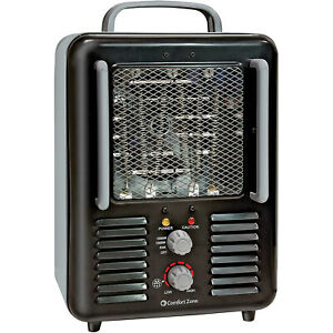 Comfort-Zone-CZ798BK-Compact-Portable-Electric-Utility-Space-Heater-Personal-Fan