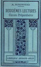 DEUXIEMES LECTURES Classes préparatoires, par A. MIRONNEAU, Lib Armand COLIN