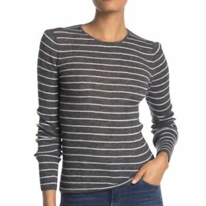 VINCE. Wool Stripe Rib Knit Pullover Sweater NWT Size Medium MSRP $235