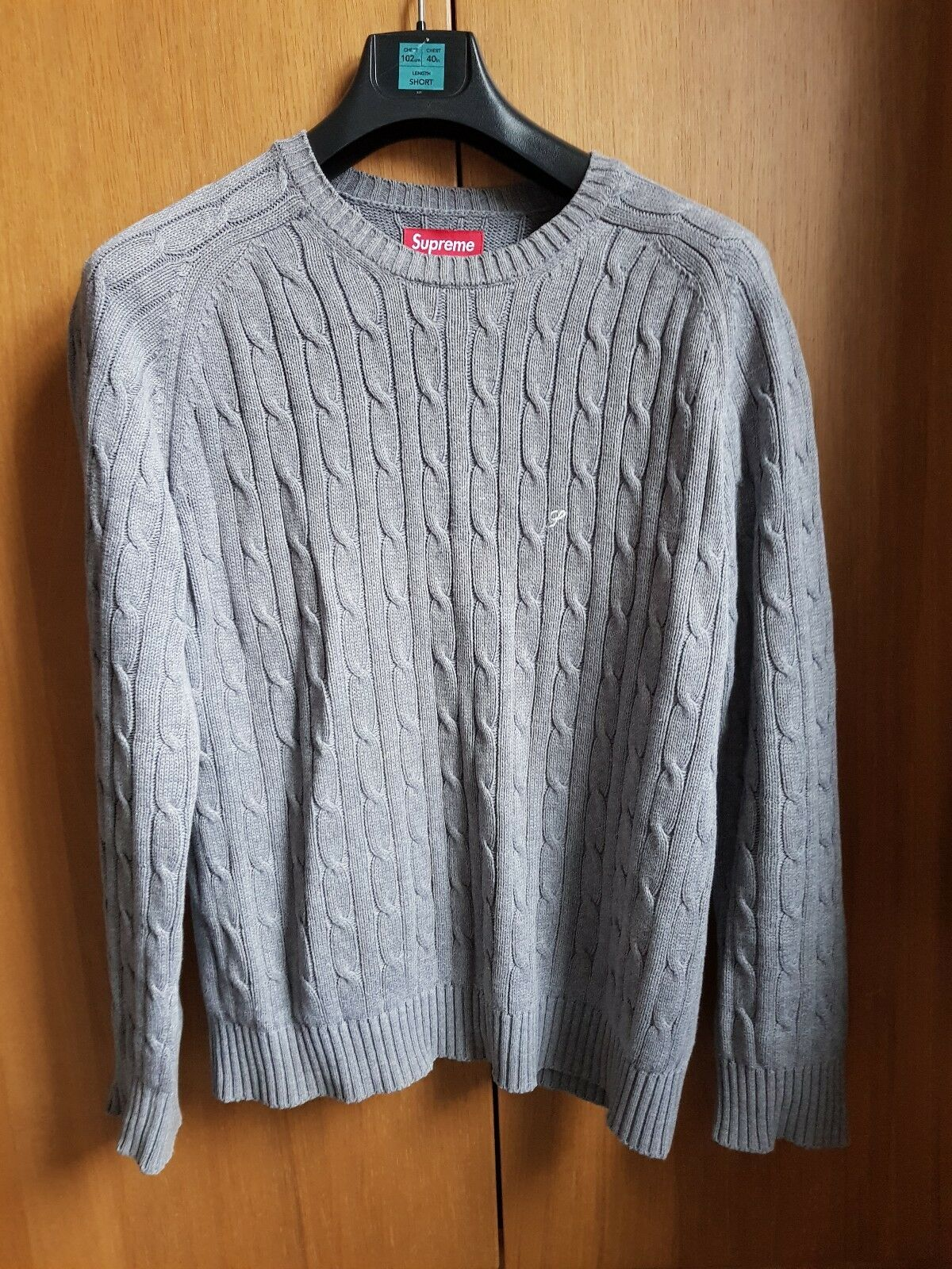 Supreme Cable Knit Jumper Größe Medium