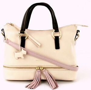 0da6e0adf835 Image is loading Radley-Pickering-Medium-Handbag-Cross-Body-Cream-Leather-