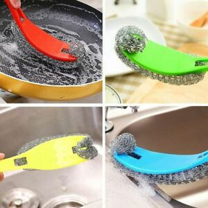 Hangable-cleaning-brush-long-handle-steel-ball-to-oil-wash-pots-brushes