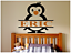 """PENGUIN PERSONALIZED NAME LARGE WALL VINYL DECAL ART 22/"""" TALL BOY COLOR CHOICES"""