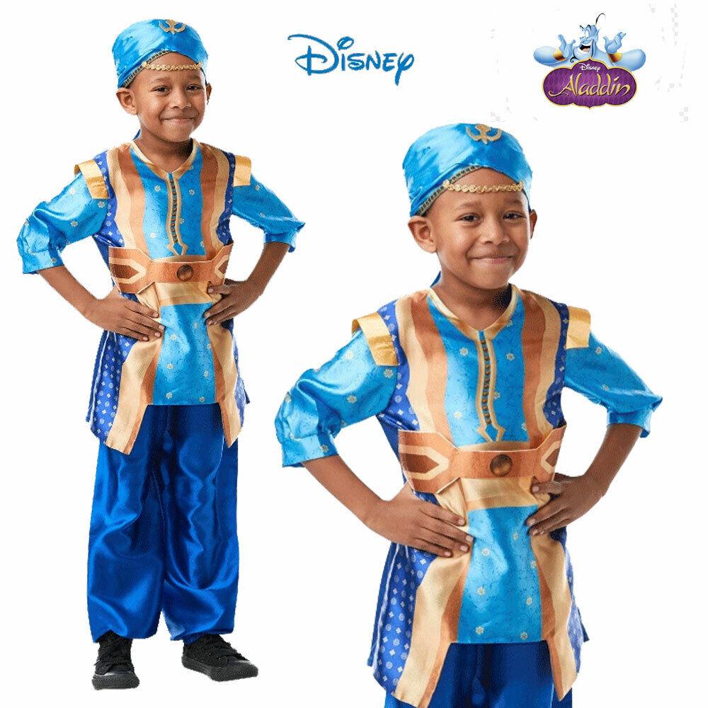 Disney Aladdin Genie Boy Child Costume Movie Fancy Dress Book Week Alladin Kid