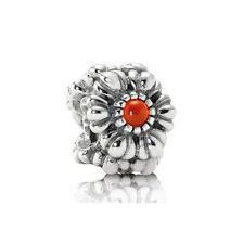 NEW! Authentic Pandora July Birthday Blooms Carnelian Charm #790580CAR RETIRED
