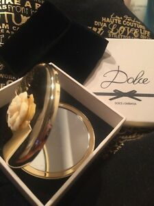 3a02d211ba6d Dolce   Gabbana Compact Makeup Mirror Gold W  Storage Black bag New ...