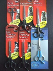 MIKKI-amp-ANCOL-DOG-GROOMING-STRAIGHT-THINNING-amp-SAFETY-SCISSORS-NUTS-ABOUT-MUTTS