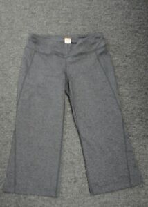 b0d0e6a9493ea LUCY Gray Solid Nylon Blend Casual Athletic Cropped Yoga Pants Size ...