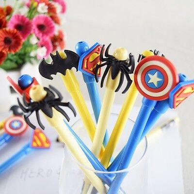 5PCS Super Heros symbol cute gel pens birthday gift for kids school kawaii pen