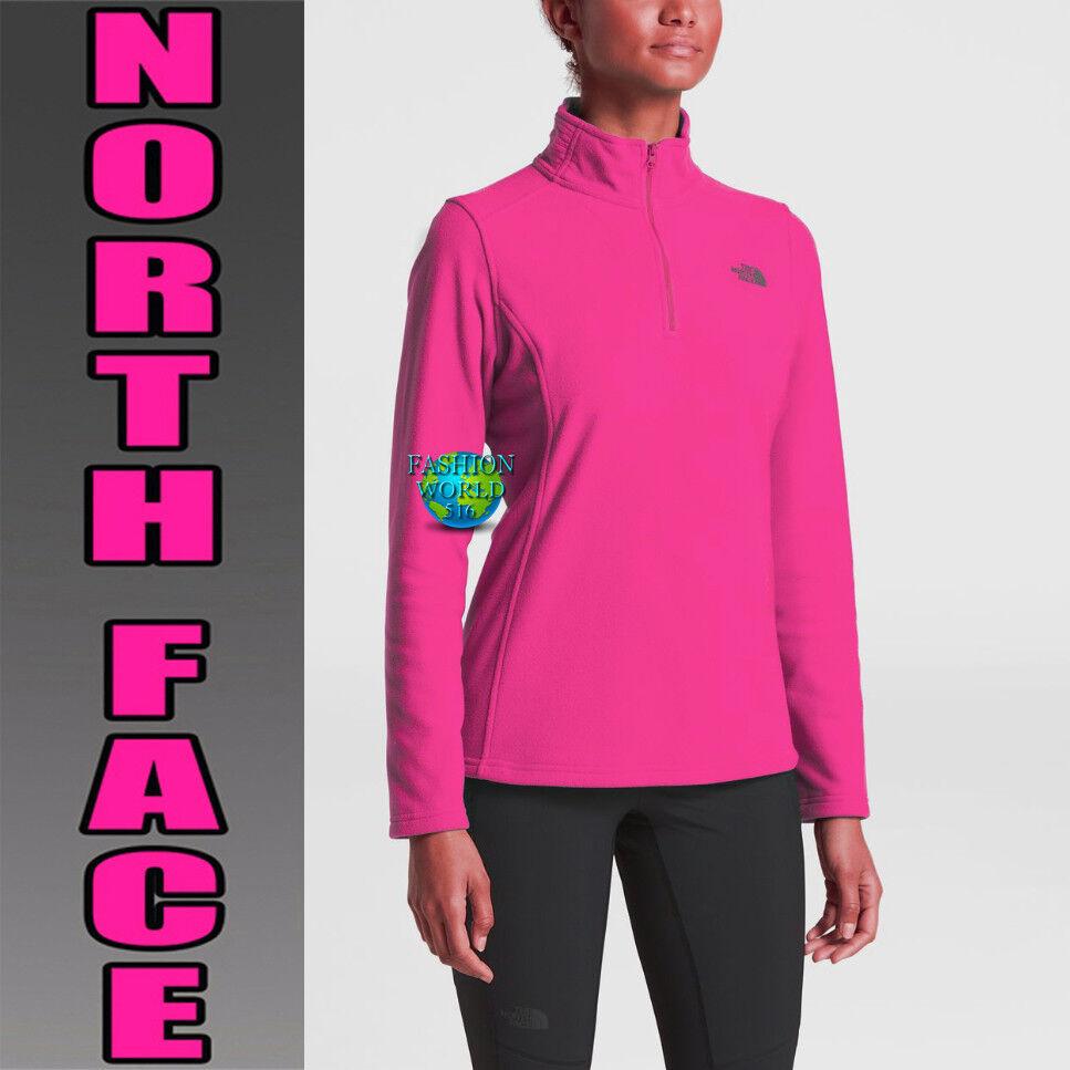 The North Face Women's Size Medium 100 GLACIER 1 4 Zip Fleece Petticoat Pink NWT