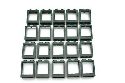 TCM Compatible Bricks-QTY White Window 1 x 2 x 3 Flat Front with Glass 25 Pcs