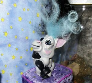 DONKEY-TROLL-3-034-ooak-doll-Restore-2-tone-new-hair-paint-black-blue-DAM-finger