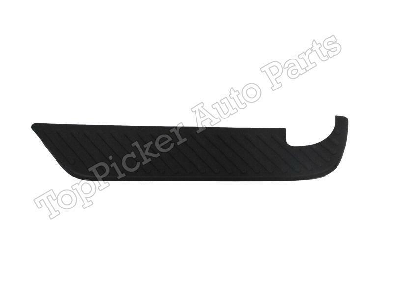 Rear Bumper Bar Top Pads Brackets 5Pc For 97-03 F150 Styleside Black Paintable