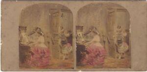 La-Lezione-Da-Piano-Declaration-Of-Love-Foto-Stereo-Vintage-Albumina-Ca-1860