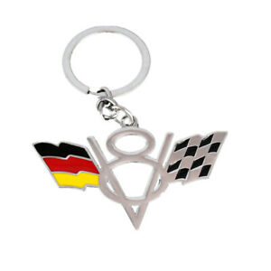 Gold Corvette Car Key Ring Key Chain for Corvette Z06 Z51 ZR1 C6 C7 Stingray Etc