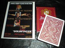 James Bond 007-Raro Nuevo Y Sellado Goldfinger jugando a las cartas-Skyfall, Spectre
