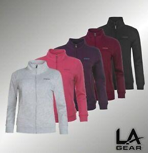 Ladies-LA-Gear-Funnel-Neck-Long-Sleeved-Full-Zip-Fleece-Jacket-Sizes-6-22