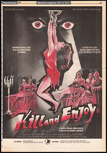 KILL AND ENJOY_/_MANIAC KILLER__Original 1987 Trade AD / poster__ANDREA BIANCHI
