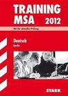 Training Mittlerer Schulabschluss Berlin - Deutsch von Marion der Kammer und Juliane Schumacher (2011, Taschenbuch)