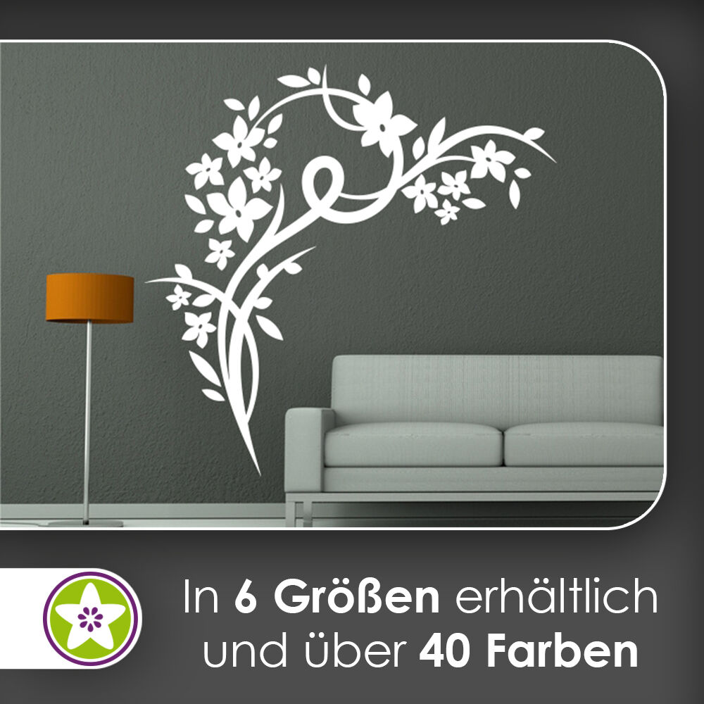 waf0267 - Beau Fleurs Vrille Sticker mural mural mural KIWISTAR - Autocollant Mur | Attrayant De Mode  94ac11