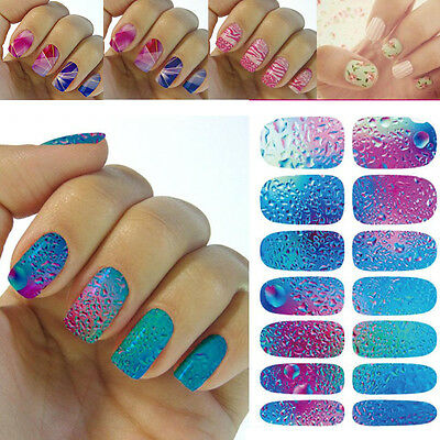 1X 3D DIY Water Transfer Nail Art Wraps Stickers Decals Polish Stickers Tips