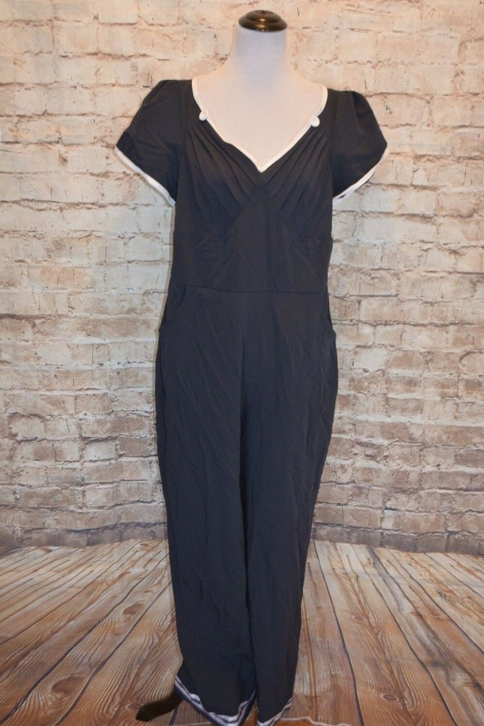Modcloth Lo and Be Bold Jumpsuit NWT 2X fits 1X  Miss Candyfloss Nautical