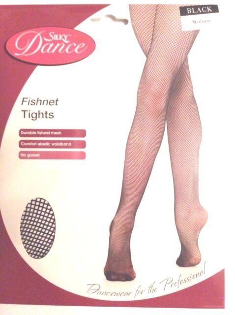 986286d76d80a Silky Childrens Girls Dance Ballet Fishnet Tights Black Age 3-7 for ...