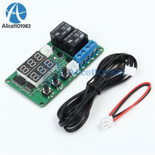 12V Digital Dual Relay Alarm Thermometer Temperature Controller Air Regulator