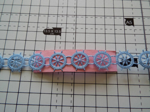 1m Blue Ship Steering Wheel Trimming,Appliques,Wedding Satin Lace Ribbon W-2cm