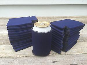 Lot Of 100 Navy Blue Can Beverage Holder Blank Beer Soda