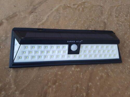 66 LED Solar Light PIR Motion Sensor Super Bright Outdoor Security Lights White