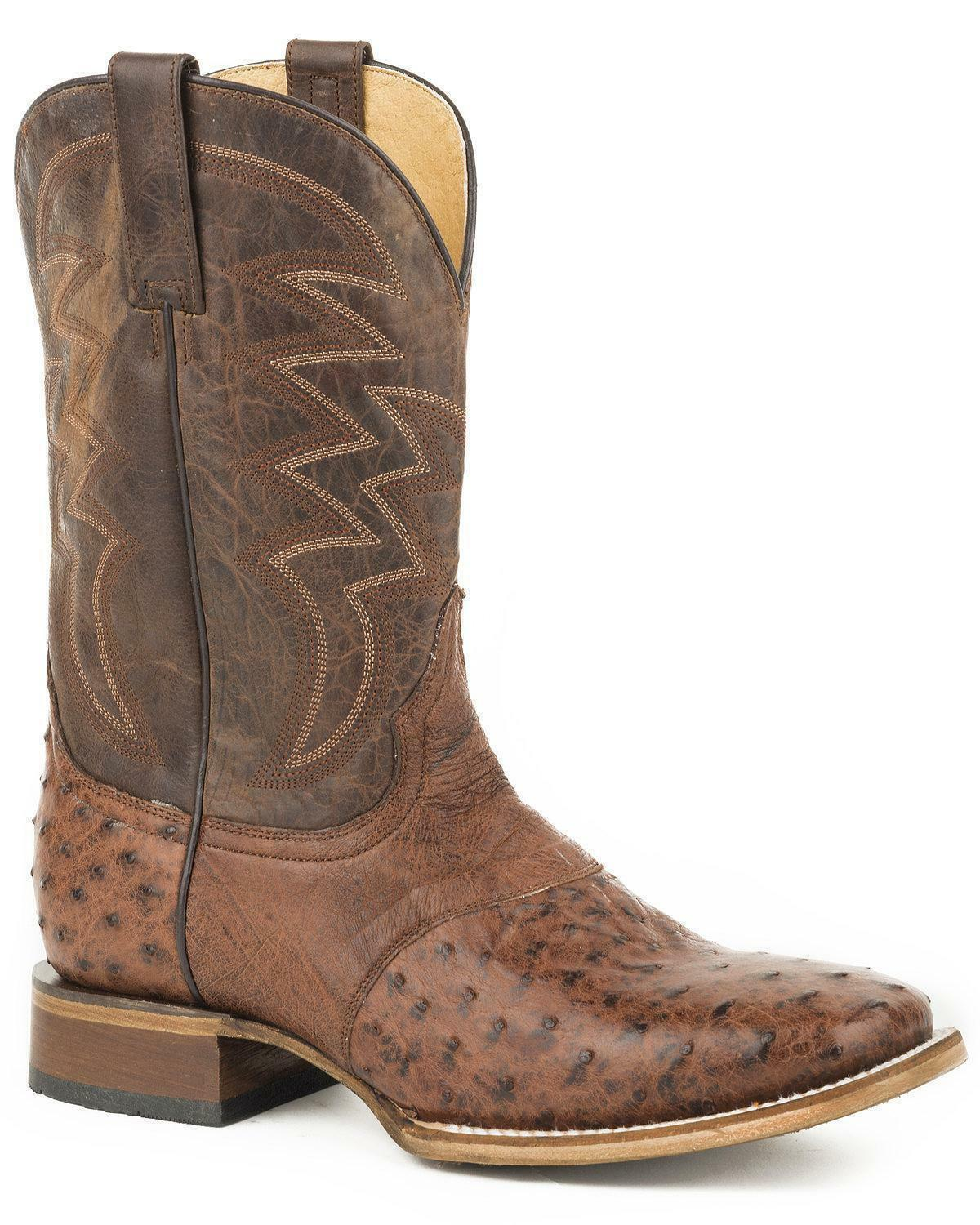 Roper Men's Deadwood Ostrich Skin avvio - Square Toe - 09-020-6500-8120