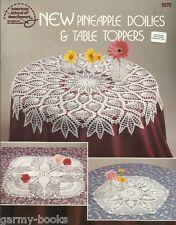 New Pineapple Doilies & Table Toppers Rita Weiss Crochet Pattern Book ASN 1070