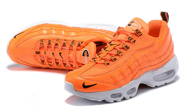 Nike Air Max 95 Premium Total Orange Black White Sz 10
