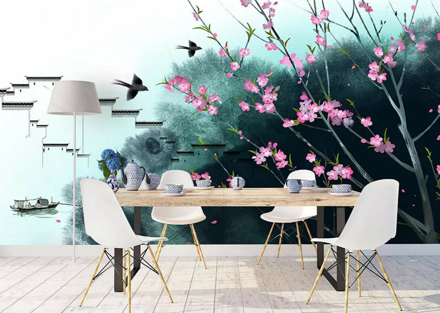 3D Ink Town Scenery 5 Wall Paper Exclusive MXY Wallpaper Mural Decal Indoor wall