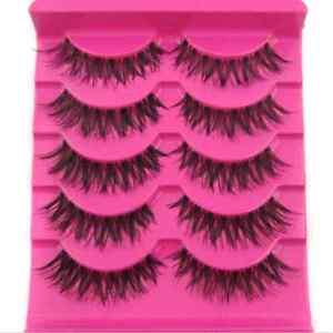 Hot-Sale-5-Pair-Lot-Crisscross-False-Eyelashes-Lashes-MESSY-SOFT-eye-lashes